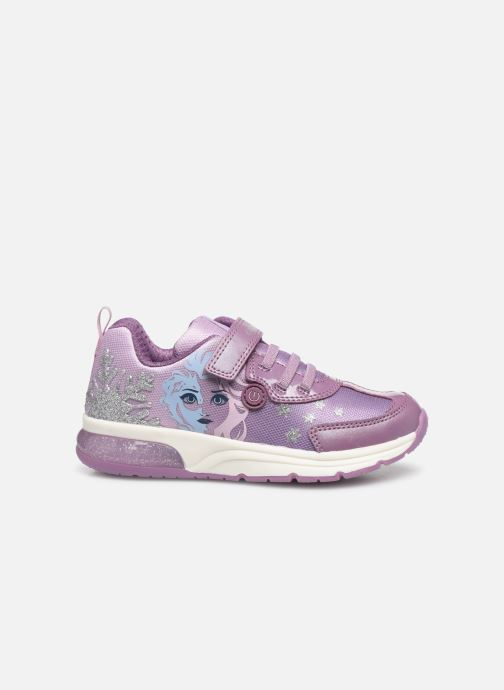 Sneaker Geox J Space Club GirlJ028VD x Frozen lila ansicht von hinten