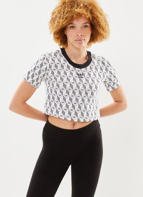 Kleding adidas originals Cropped T-Shirt Wit detail