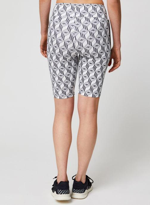 Vêtements adidas originals Cycling Shorts Blanc vue portées chaussures