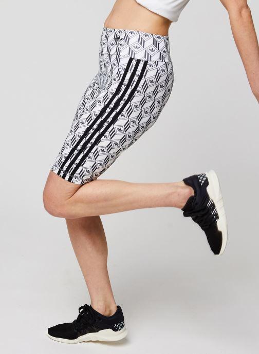 Vêtements adidas originals Cycling Shorts Blanc vue détail/paire