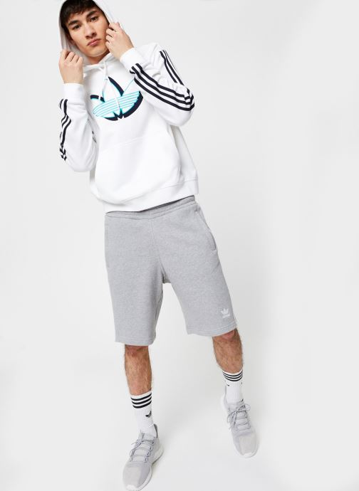 Vêtements adidas originals Shadow Tref Hdy Blanc vue bas / vue portée sac