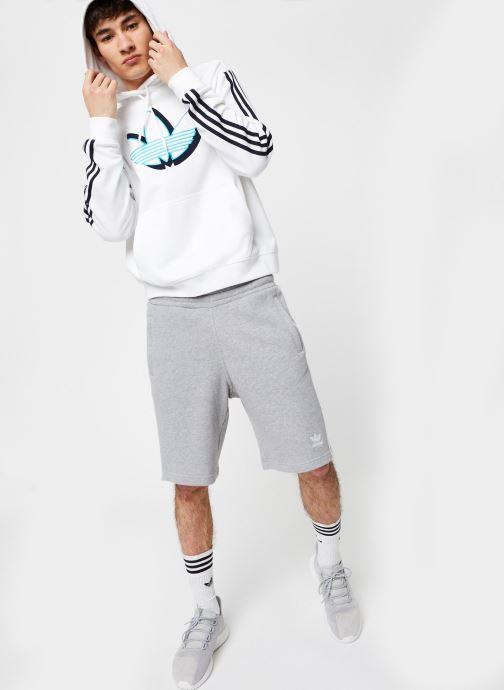 Vêtements adidas originals Shadow Tref Hdy Blanc vue bas / vue portée sac