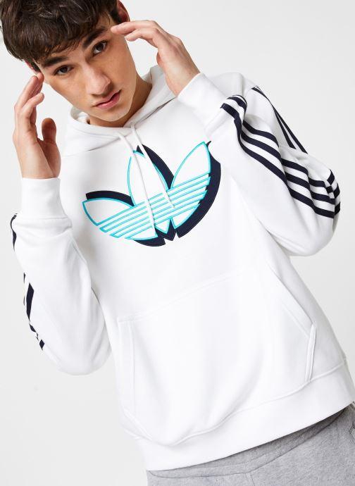 Vêtements adidas originals Shadow Tref Hdy Blanc vue détail/paire