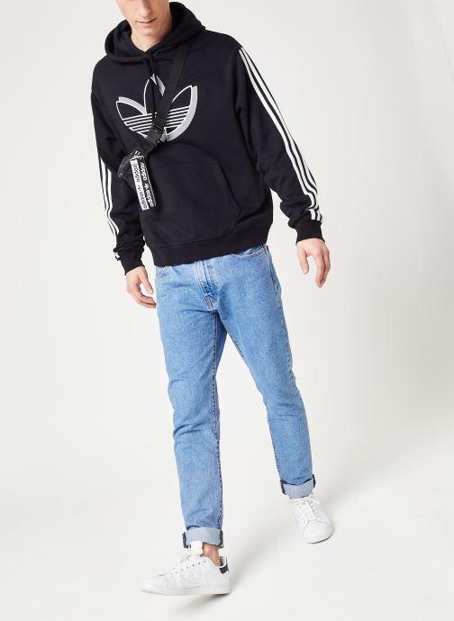 Vêtements adidas originals Shadow Tref Hdy Noir vue bas / vue portée sac