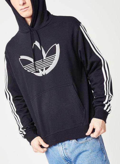 Vêtements adidas originals Shadow Tref Hdy Noir vue détail/paire