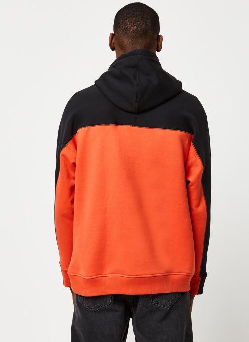 Vêtements adidas originals D Oth Hoody Orange vue portées chaussures