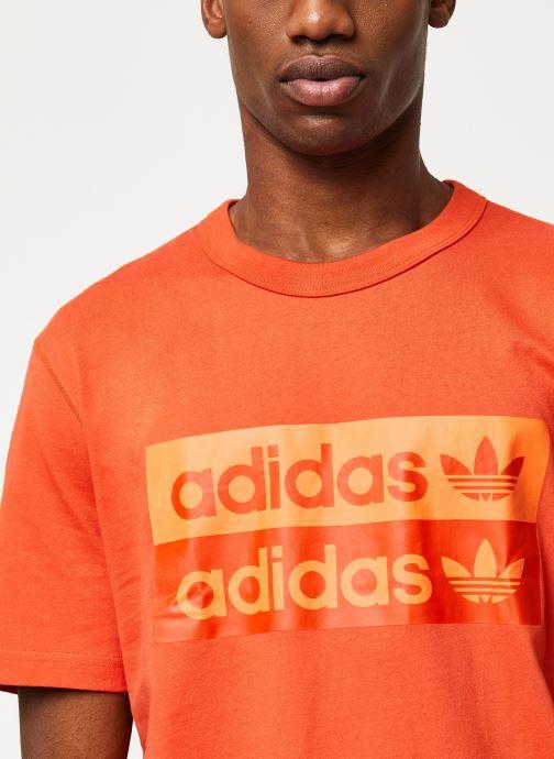 Vêtements adidas originals D Grp Tee 1 Orange vue face
