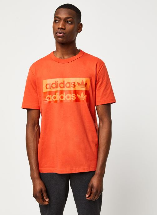 Vêtements adidas originals D Grp Tee 1 Orange vue détail/paire