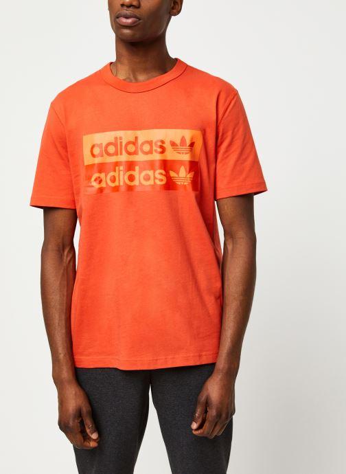 Kleding adidas originals D Grp Tee 1 Oranje detail