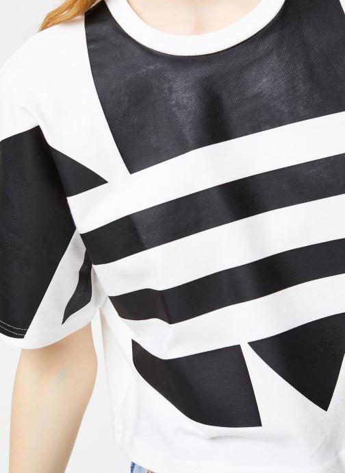 Vêtements adidas originals Lrg Logo Tee Blanc vue face