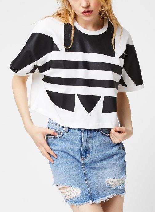 Vêtements adidas originals Lrg Logo Tee Blanc vue détail/paire