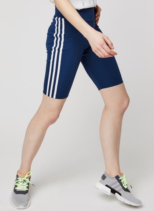 Vêtements adidas originals Short Tight Bleu vue détail/paire