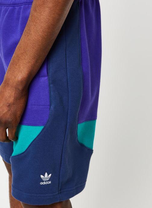 Vêtements adidas originals Short Violet vue face