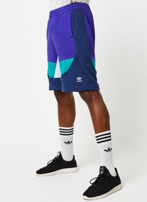 Vêtements adidas originals Short Violet vue détail/paire