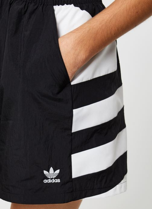 Vêtements adidas originals Lrg Logo Short Noir vue face