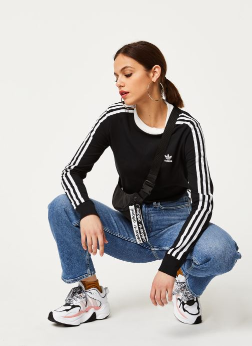 adidas originals 3 Str Ls (Noir) - Vêtements (433264)