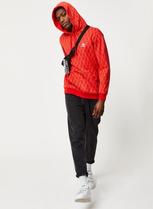 Vêtements adidas originals Mono Aop Hoodie Orange vue bas / vue portée sac