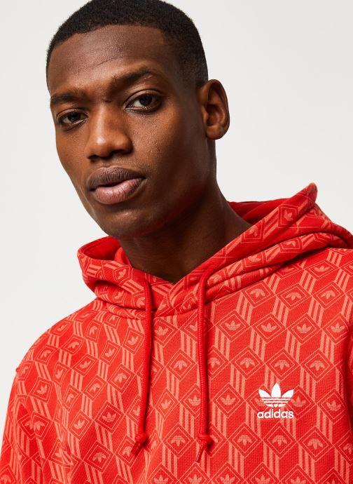Vêtements adidas originals Mono Aop Hoodie Orange vue face