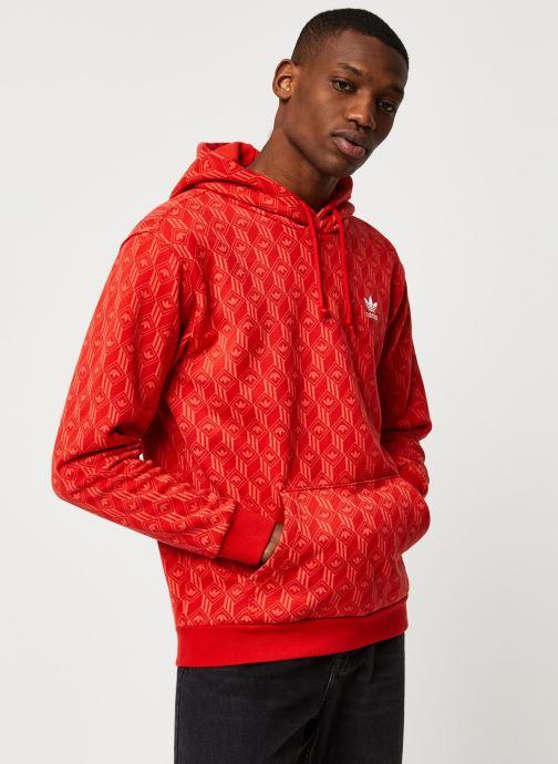 Vêtements adidas originals Mono Aop Hoodie Orange vue droite