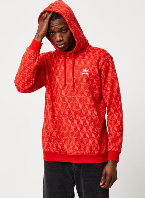 Vêtements adidas originals Mono Aop Hoodie Orange vue détail/paire