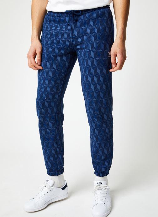 Vêtements adidas originals Mono Aop Pants Bleu vue détail/paire