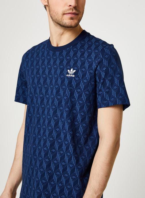 Vêtements adidas originals Mono Aop Tee Bleu vue face