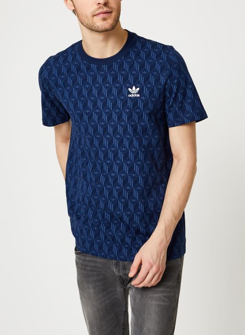 Vêtements adidas originals Mono Aop Tee Bleu vue droite