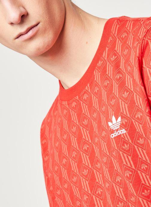 Vêtements adidas originals Mono Aop Tee Rouge vue face