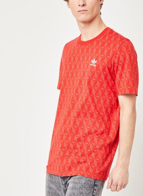 Vêtements adidas originals Mono Aop Tee Rouge vue droite
