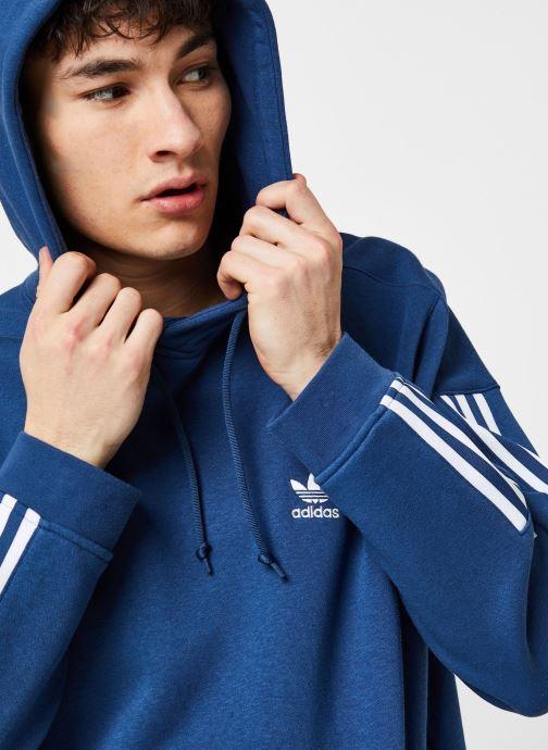 Vêtements adidas originals Tech  Hoody Bleu vue face