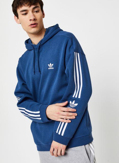 Vêtements adidas originals Tech  Hoody Bleu vue droite