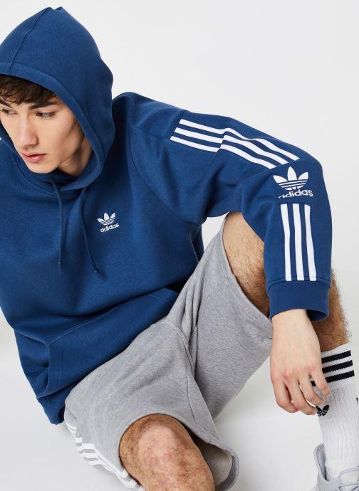Vêtements adidas originals Tech  Hoody Bleu vue détail/paire