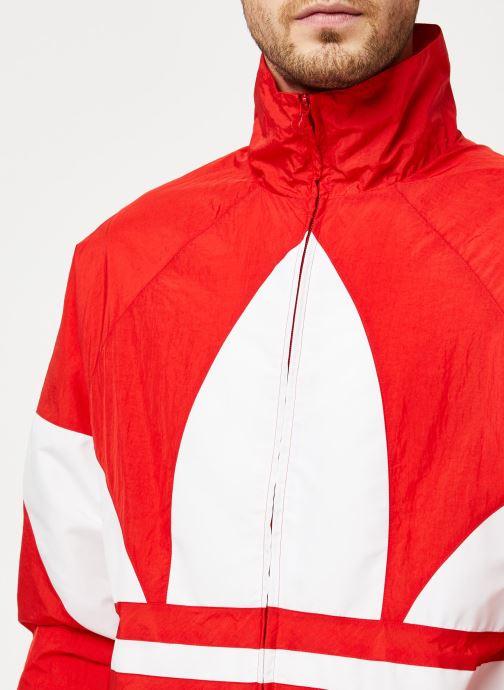 Vêtements adidas originals Bg Trefoil Tt Rouge vue face