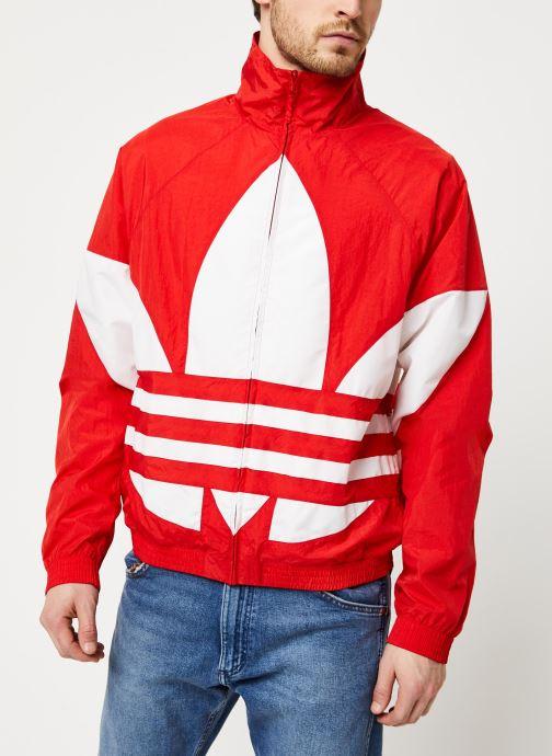 Vêtements adidas originals Bg Trefoil Tt Rouge vue droite