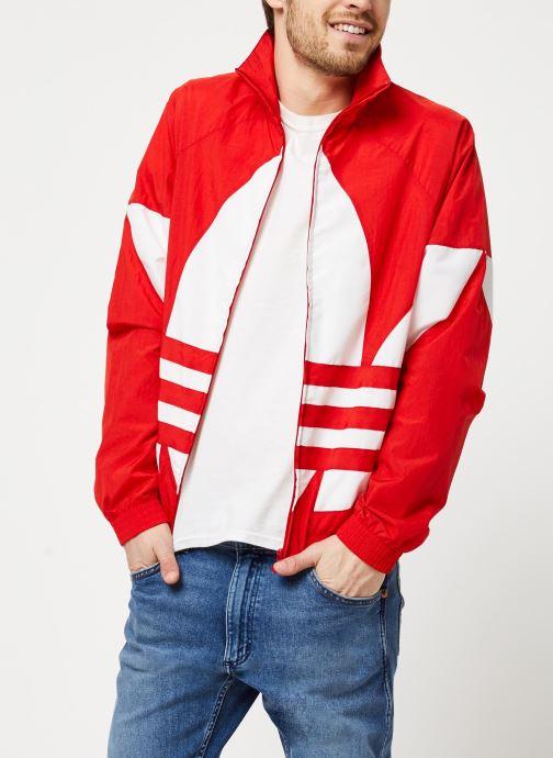 Vêtements adidas originals Bg Trefoil Tt Rouge vue détail/paire