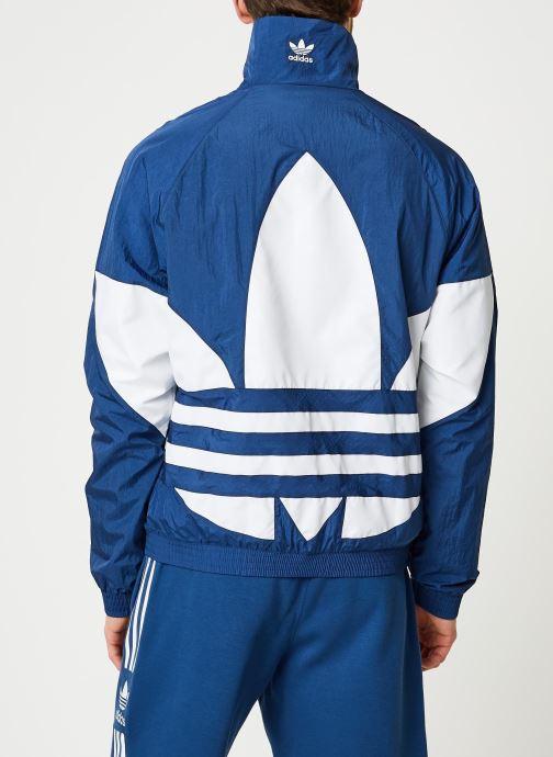 Vêtements adidas originals Bg Trefoil Tt Bleu vue portées chaussures