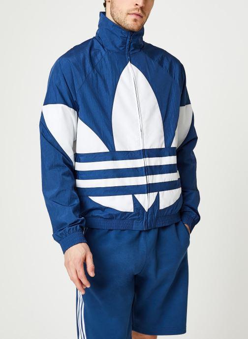Vêtements adidas originals Bg Trefoil Tt Bleu vue droite