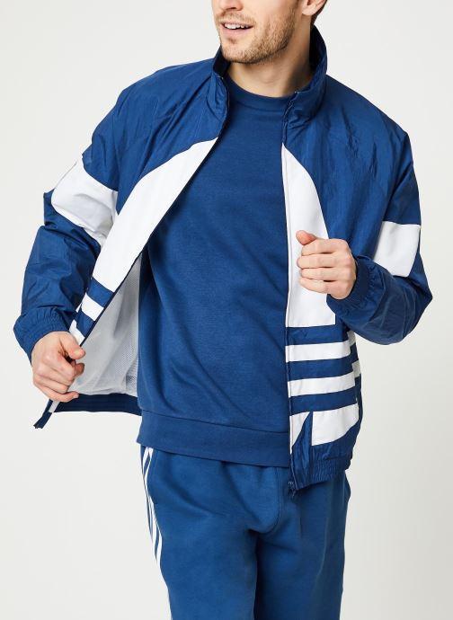 Vêtements adidas originals Bg Trefoil Tt Bleu vue détail/paire