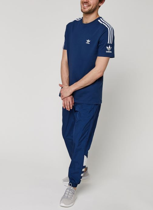 Vêtements adidas originals Bg Trefoil Tp Bleu vue bas / vue portée sac