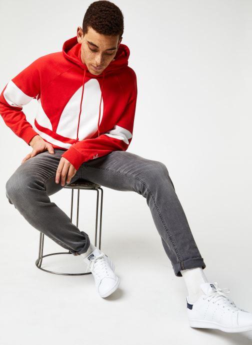 Vêtements adidas originals Bg Trefoil Hood Rouge vue bas / vue portée sac