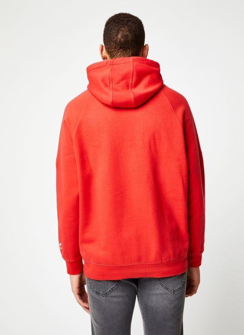 Vêtements adidas originals Bg Trefoil Hood Rouge vue portées chaussures