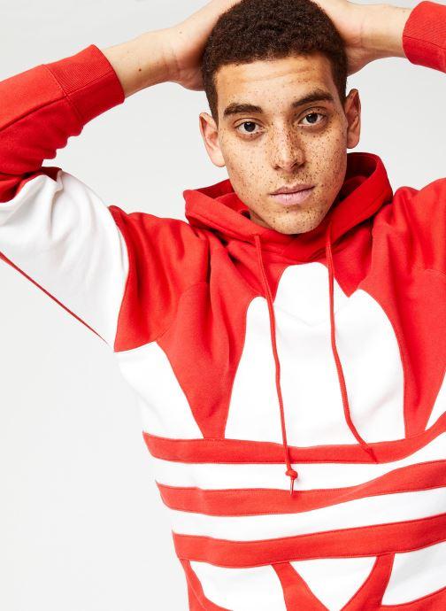 Vêtements adidas originals Bg Trefoil Hood Rouge vue face