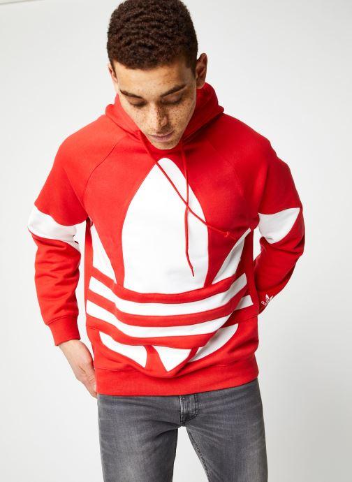 Vêtements adidas originals Bg Trefoil Hood Rouge vue droite