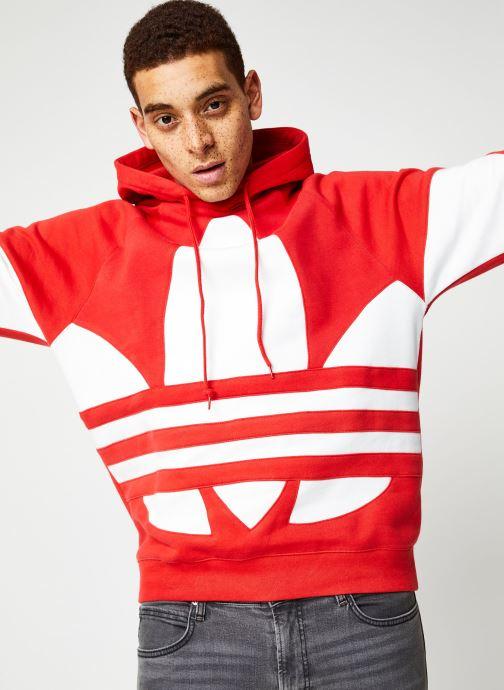 Vêtements adidas originals Bg Trefoil Hood Rouge vue détail/paire