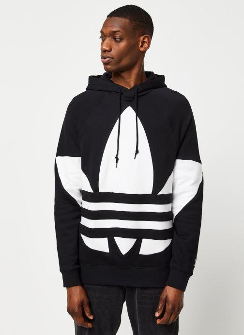 Vêtements adidas originals Bg Trefoil Hood Noir vue droite