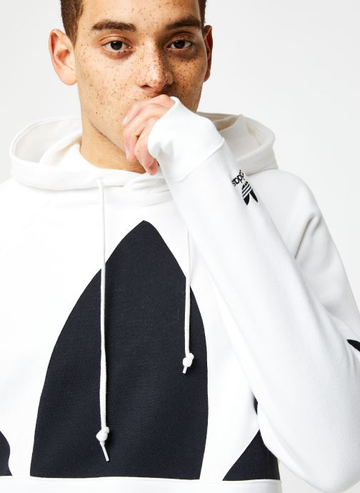 Vêtements adidas originals Bg Trefoil Hood Blanc vue face