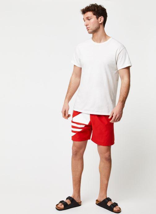 Vêtements adidas originals Big Trefoil Swm Rouge vue bas / vue portée sac
