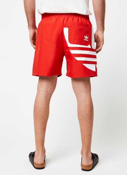Vêtements adidas originals Big Trefoil Swm Rouge vue portées chaussures