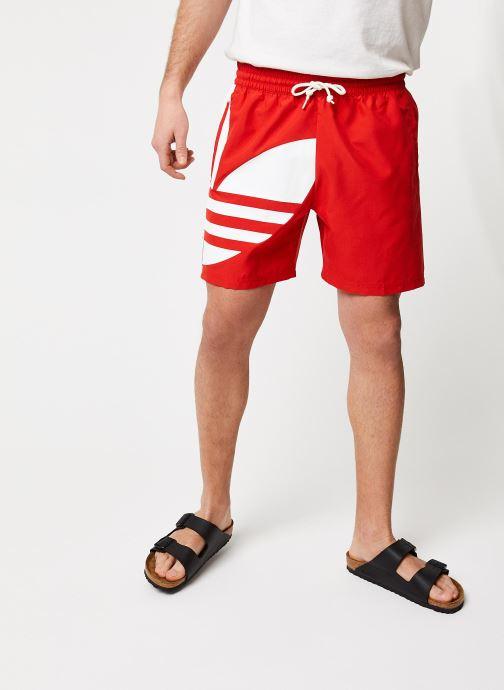 Vêtements adidas originals Big Trefoil Swm Rouge vue détail/paire