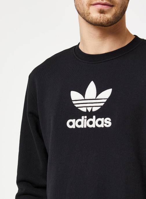 Vêtements adidas originals Adiclr Prm Crew Noir vue face